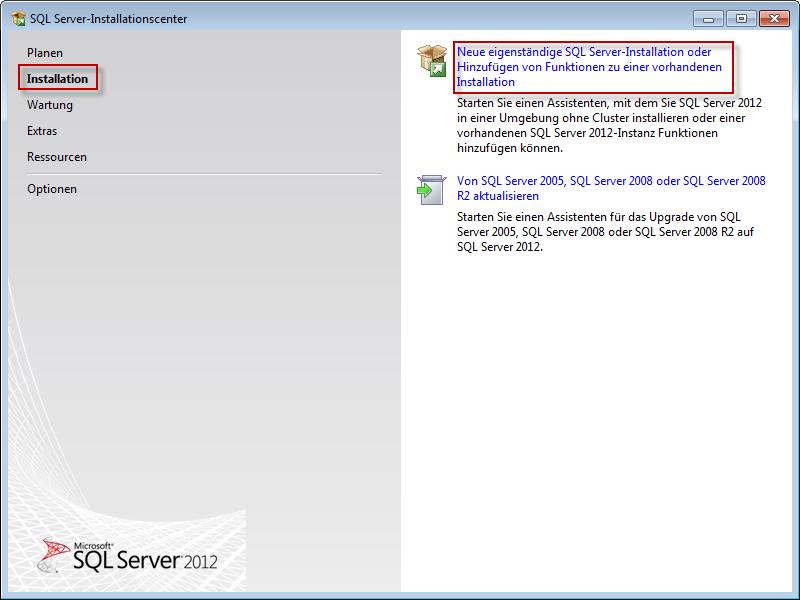 Installation Microsoft SQL Server 2012 Express – prevero Competence ...